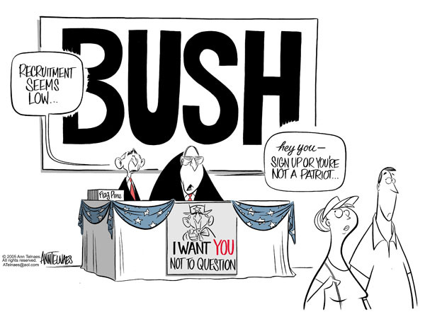 Cartoonist Ann Telnaes  Ann Telnaes' Editorial Cartoons 2005-06-07 Bush Cheney