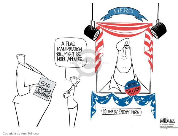 Ann Telnaes  Ann Telnaes' Editorial Cartoons 2005-05-25 patriotic