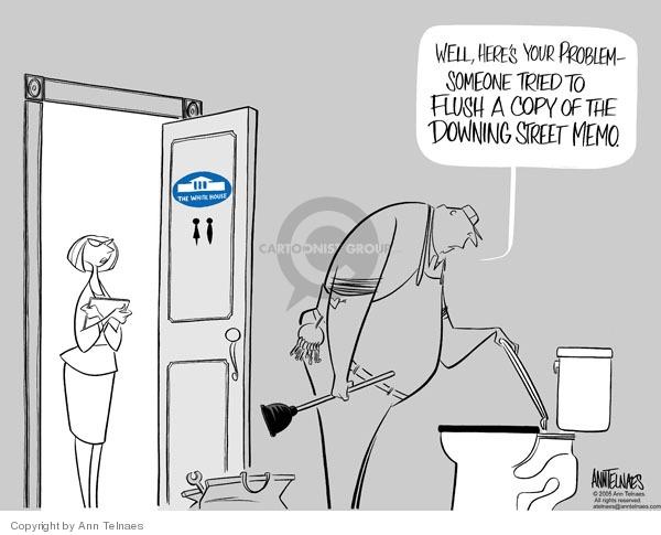 Ann Telnaes  Ann Telnaes' Editorial Cartoons 2005-05-17 Iraq war intelligence