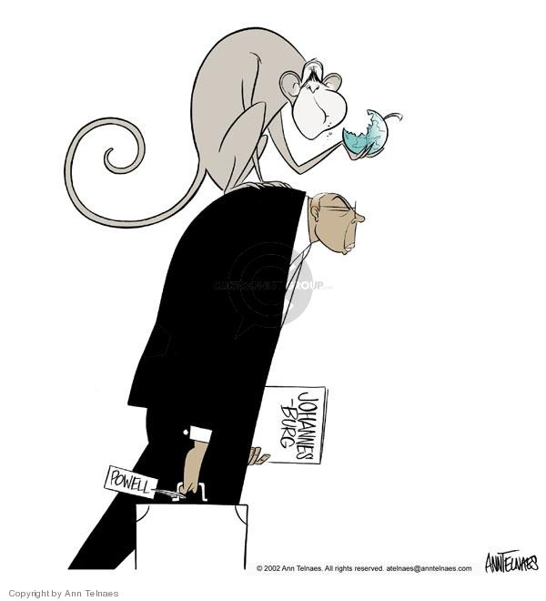 Cartoonist Ann Telnaes  Ann Telnaes' Editorial Cartoons 2002-08-30 Colin Powell