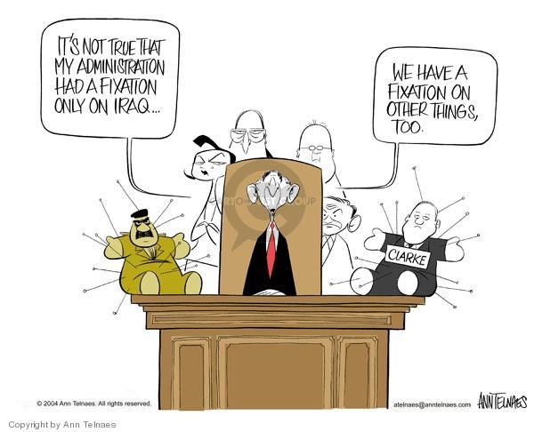 Ann Telnaes  Ann Telnaes' Editorial Cartoons 2004-03-26 George W. Bush