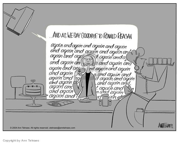 Cartoonist Ann Telnaes  Ann Telnaes' Editorial Cartoons 2004-06-12 goodbye