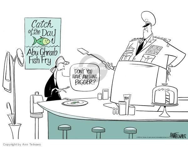 Ann Telnaes  Ann Telnaes' Editorial Cartoons 2005-05-04 Iraq human rights