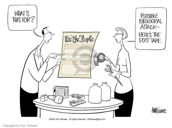 Cartoonist Ann Telnaes  Ann Telnaes' Editorial Cartoons 2003-02-12 Constitution