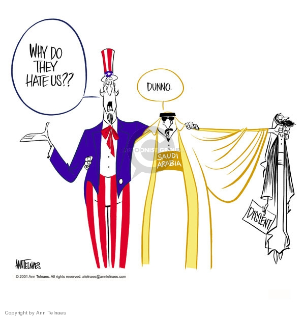 Cartoonist Ann Telnaes  Ann Telnaes' Editorial Cartoons 2001-10-15 freedom of expression