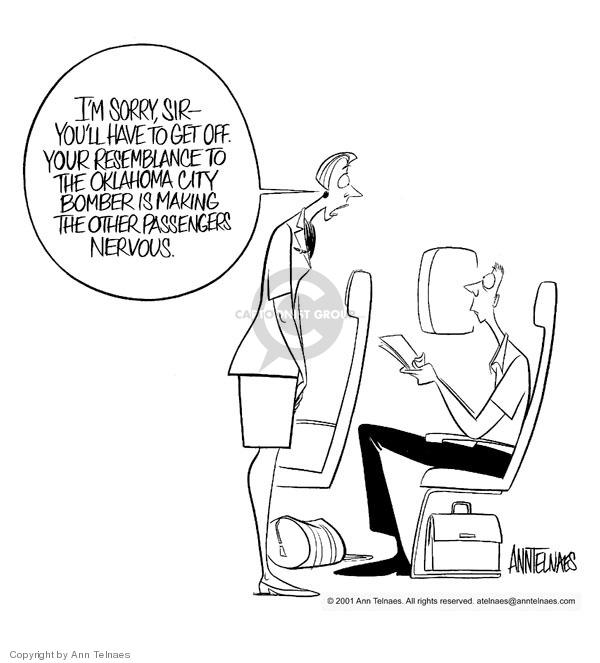 Ann Telnaes  Ann Telnaes' Editorial Cartoons 2001-11-01 anxiety