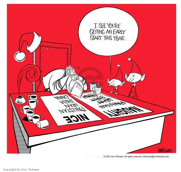 Cartoonist Ann Telnaes  Ann Telnaes' Editorial Cartoons 2001-11-06 Christmas