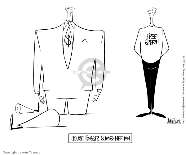 Cartoonist Ann Telnaes  Ann Telnaes' Editorial Cartoons 2002-02-14 freedom of expression