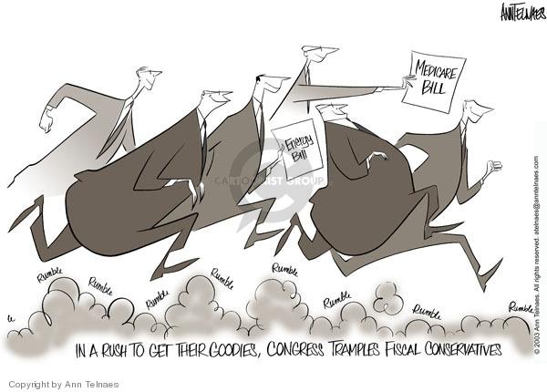 Cartoonist Ann Telnaes  Ann Telnaes' Editorial Cartoons 2003-12-01 Congress