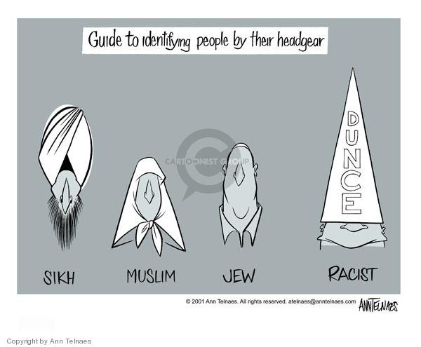 Ann Telnaes  Ann Telnaes' Editorial Cartoons 2001-09-26 racism