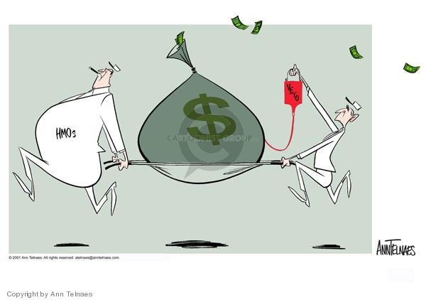 Ann Telnaes  Ann Telnaes' Editorial Cartoons 2001-06-24 George W. Bush