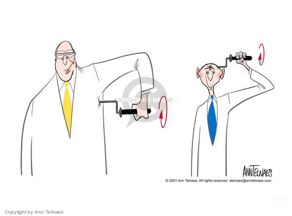Ann Telnaes  Ann Telnaes' Editorial Cartoons 2001-07-03 brain