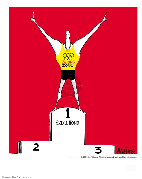 Ann Telnaes  Ann Telnaes' Editorial Cartoons 2001-07-06 summer Olympics