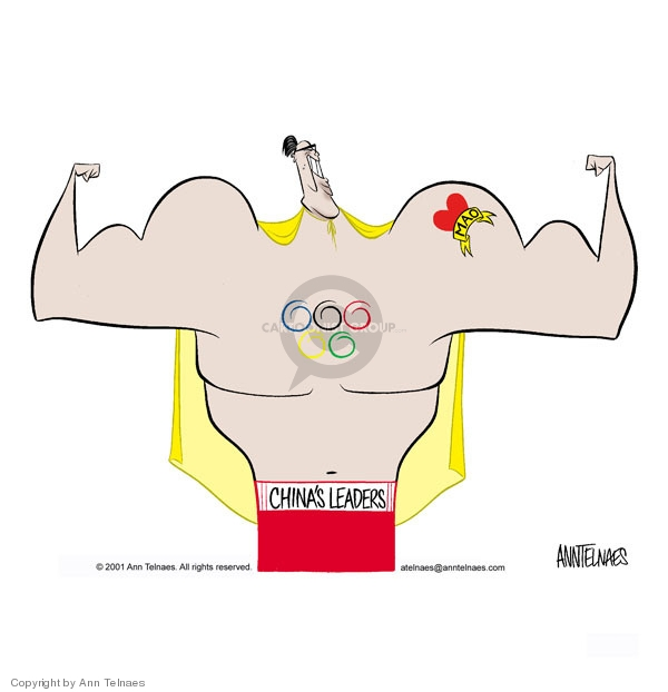 Ann Telnaes  Ann Telnaes' Editorial Cartoons 2001-07-15 summer Olympics