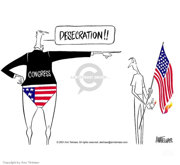 Ann Telnaes  Ann Telnaes' Editorial Cartoons 2001-07-17 patriotic
