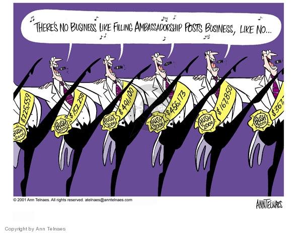 Ann Telnaes  Ann Telnaes' Editorial Cartoons 2001-05-04 international relations