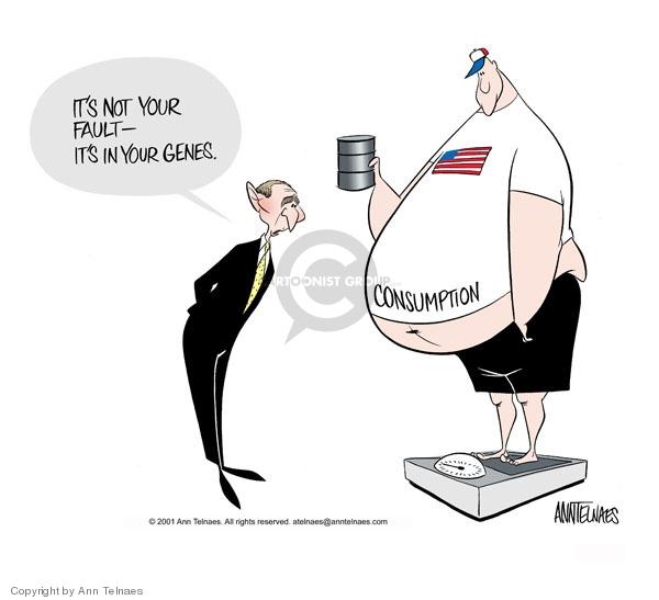 Ann Telnaes  Ann Telnaes' Editorial Cartoons 2001-05-08 energy consumption