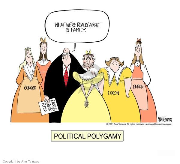 Ann Telnaes  Ann Telnaes' Editorial Cartoons 2001-05-16 family values