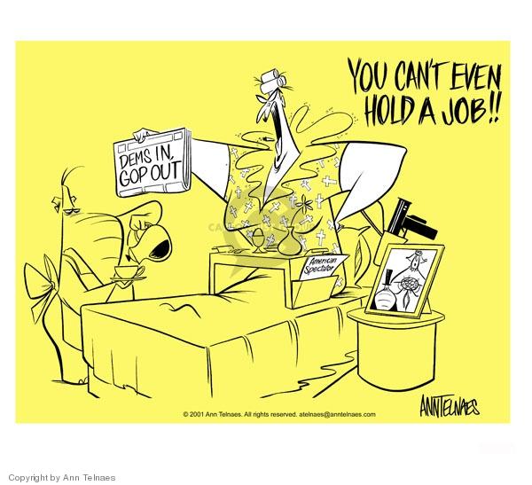 Ann Telnaes  Ann Telnaes' Editorial Cartoons 2001-06-06 job