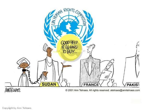 Ann Telnaes  Ann Telnaes' Editorial Cartoons 2001-05-05 United Nations