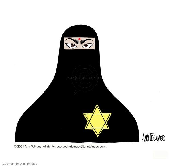 Ann Telnaes  Ann Telnaes' Editorial Cartoons 2001-05-22 burka
