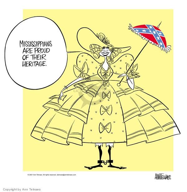 Ann Telnaes  Ann Telnaes' Editorial Cartoons 2001-04-18 Mississippi