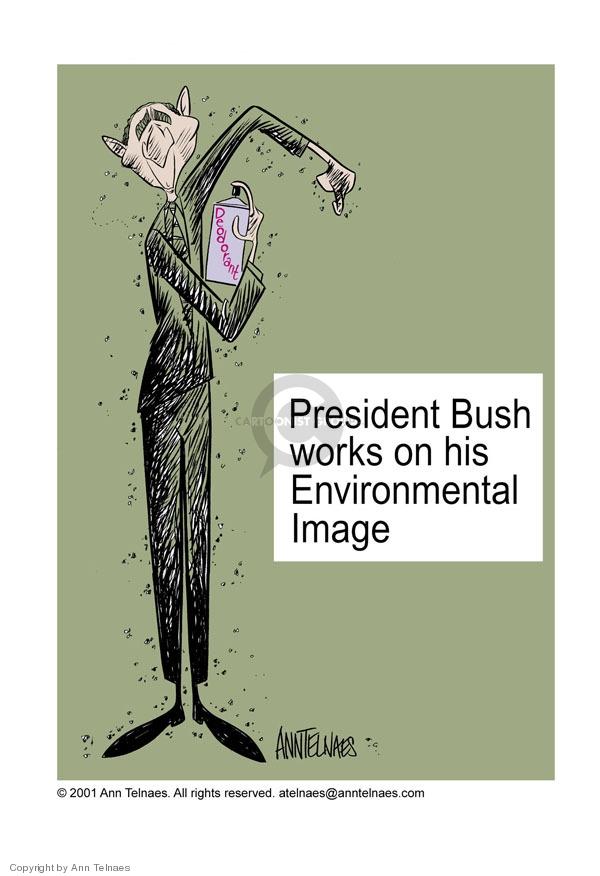 Ann Telnaes  Ann Telnaes' Editorial Cartoons 2001-04-21 environmental