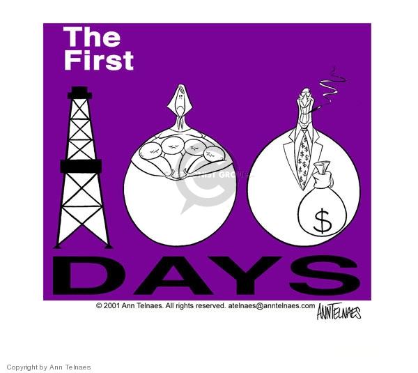 Ann Telnaes  Ann Telnaes' Editorial Cartoons 2001-04-25 Bush term