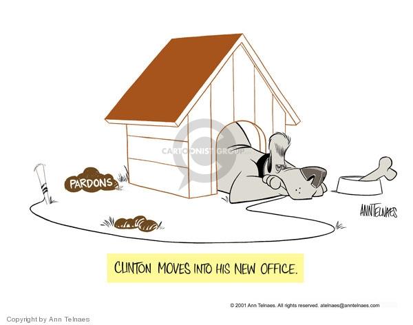 Ann Telnaes  Ann Telnaes' Editorial Cartoons 2001-02-13 presidential pardon