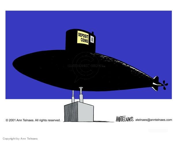 Cartoonist Ann Telnaes  Ann Telnaes' Editorial Cartoons 2001-02-15 military