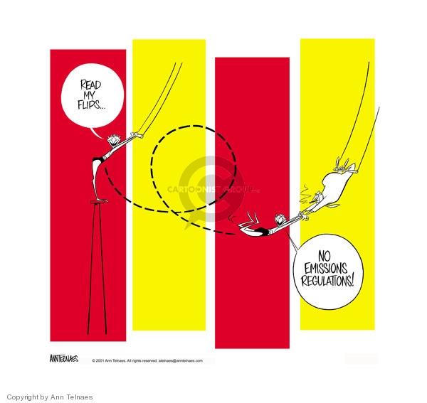 Ann Telnaes  Ann Telnaes' Editorial Cartoons 2001-03-14 environmental
