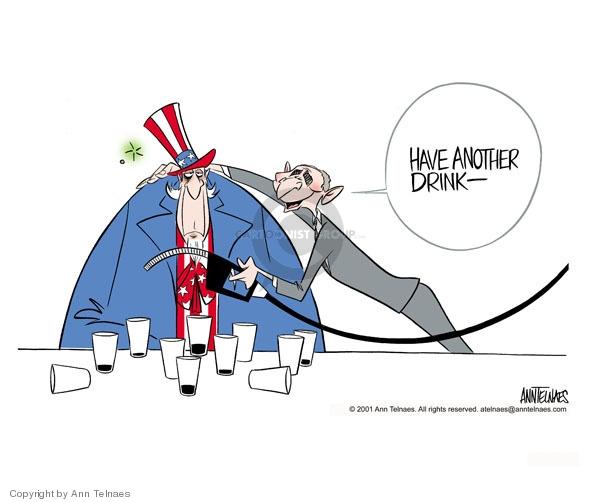 Ann Telnaes  Ann Telnaes' Editorial Cartoons 2001-03-21 oil supply