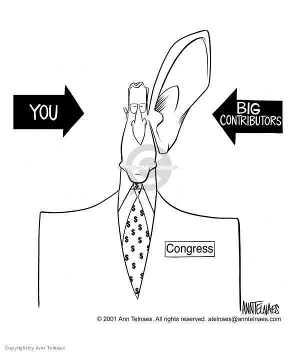 Cartoonist Ann Telnaes  Ann Telnaes' Editorial Cartoons 2001-03-22 political lobby