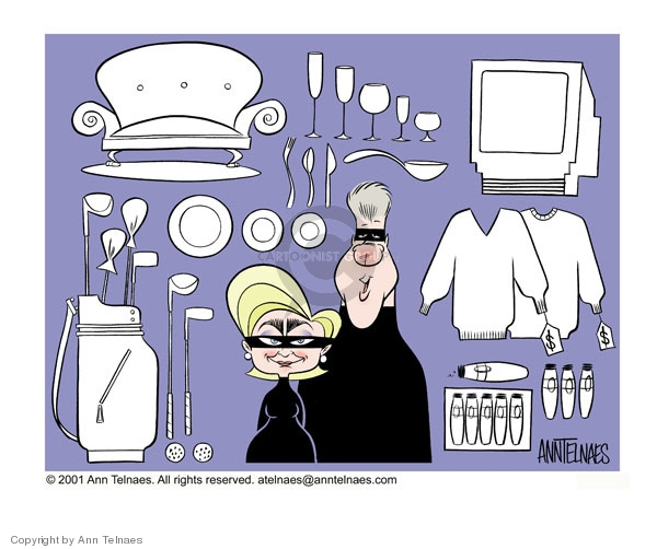 Ann Telnaes  Ann Telnaes' Editorial Cartoons 2001-01-26 apparel