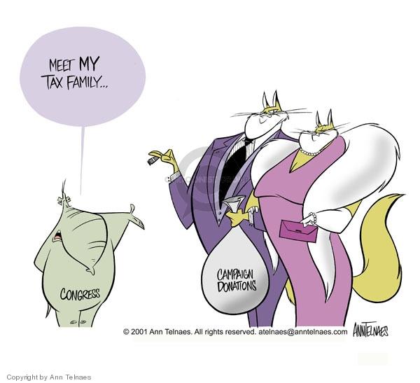 Ann Telnaes  Ann Telnaes' Editorial Cartoons 2001-02-08 family