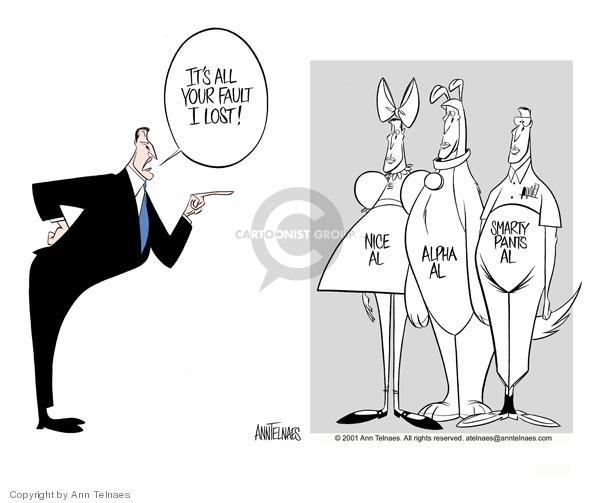 Ann Telnaes  Ann Telnaes' Editorial Cartoons 2001-02-09 personality
