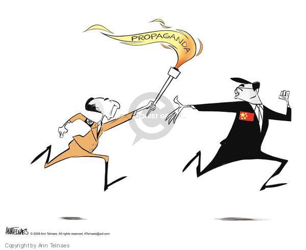 Ann Telnaes  Ann Telnaes' Editorial Cartoons 2008-04-06 torch
