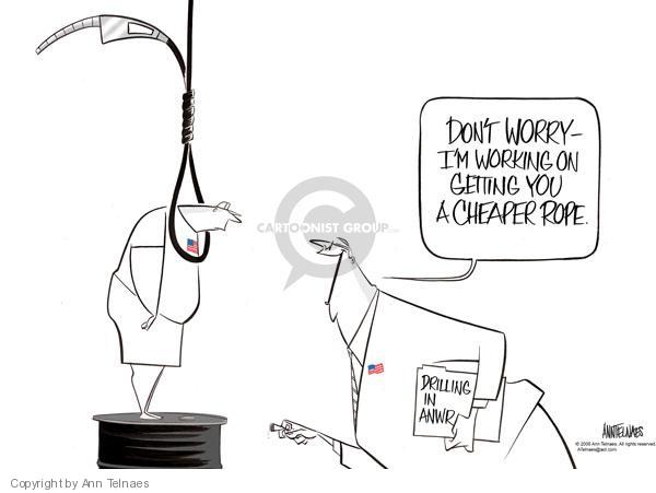 Ann Telnaes  Ann Telnaes' Editorial Cartoons 2008-05-21 pump