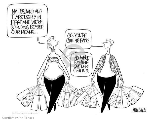 Ann Telnaes  Ann Telnaes' Editorial Cartoons 2004-11-20 debt ceiling