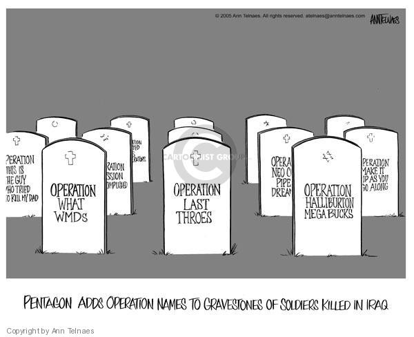 Ann Telnaes  Ann Telnaes' Editorial Cartoons 2005-08-25 justification
