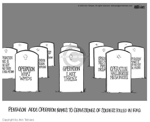 Ann Telnaes  Ann Telnaes' Editorial Cartoons 2005-08-25 Mission Accomplished