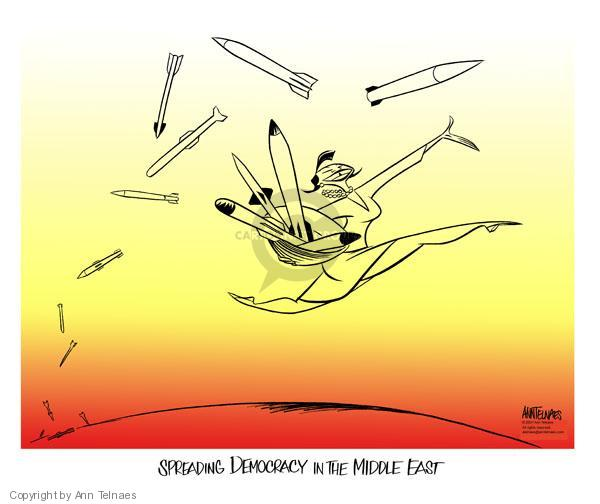 Ann Telnaes  Ann Telnaes' Editorial Cartoons 2007-08-01 international conflict