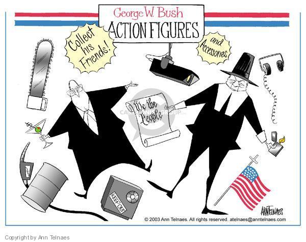 Cartoonist Ann Telnaes  Ann Telnaes' Editorial Cartoons 2003-08-20 vice president