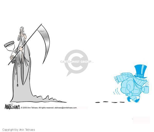 Ann Telnaes  Ann Telnaes' Editorial Cartoons 2000-12-18 New Year