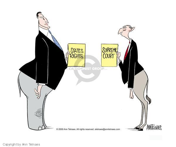 Ann Telnaes  Ann Telnaes' Editorial Cartoons 2000-11-29 2000 election Supreme Court
