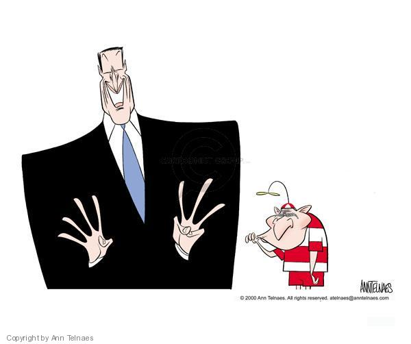 Ann Telnaes  Ann Telnaes' Editorial Cartoons 2000-12-09 while