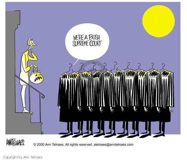 Ann Telnaes  Ann Telnaes' Editorial Cartoons 2000-10-24 court