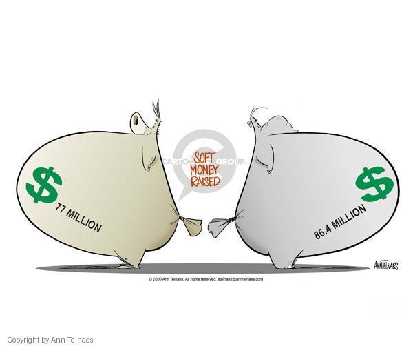 Ann Telnaes  Ann Telnaes' Editorial Cartoons 2000-06-07 2000 election