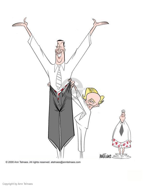 Cartoonist Ann Telnaes  Ann Telnaes' Editorial Cartoons 2000-08-08 vice president
