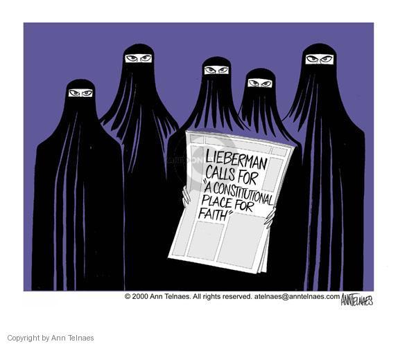 Ann Telnaes  Ann Telnaes' Editorial Cartoons 2000-08-29 burka